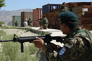 201st Corps (Afghanistan) - Soldiers assigned to the 201st Corps during a training exercise in 2013