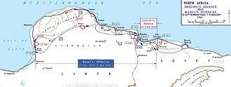 Attack on Nibeiwa, 9 December 1940 - Map of the Italian invasion of Egypt