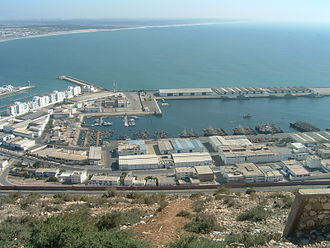 Agadir - The Fishing Port seen from the Casbah