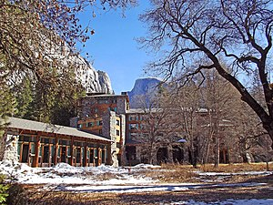 Ahwahnee Hotel - The Ahwahnee Hotel in winter