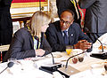 Aid coordination round table hosted by Justine Greening ahead of the main sessions at the London Conference on Somalia 2013 (8717277214).jpg