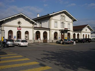 Aigle - Train station in Aigle