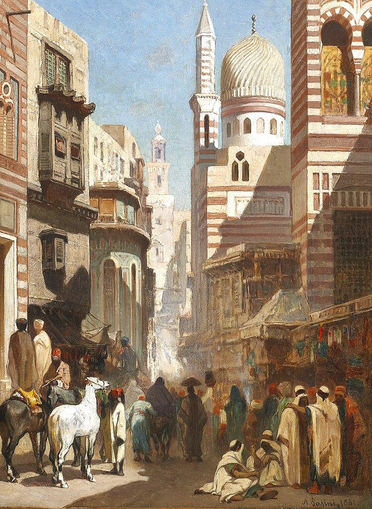 File:Al-Khudayri street, Cairo Alberto Pasini.jpg ...