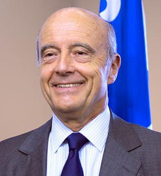 Alain Juppé - Image: Alain Juppé à Québec en 2015 (cropped 2)