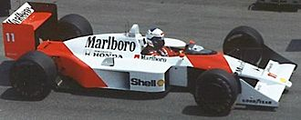 1988 Formula One World Championship - Alain Prost was narrowly beaten by McLaren teammate Senna, having won seven races.