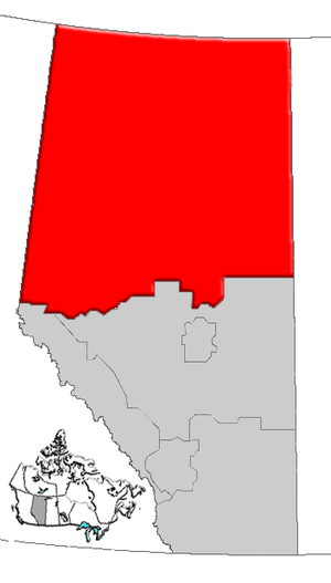 Northern Alberta - Image: Alberta northern map