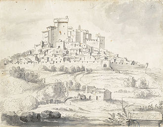 Châteauneuf-du-Pape - Drawing from the Album Laincel that dates from the second half of the 17th century