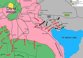 Aleppo and Kuweires offensives (digital rendering).jpg