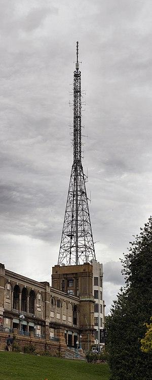 Alexandra Palace television station - Alexandra Palace television tower, June 2012.