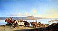 Alexandre Dubuisson La remontée de bateaux sur le Rhône 1843.jpg