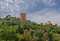 Alhambra from below Paseo de los Tristes Granada Spain.jpg
