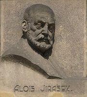 Reliéf Alois Jirásek v Olomouci