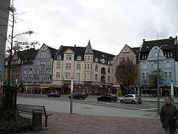 Blick nach Nordosten auf den Altmarkt in Bottrop an der Einmündung der Kirchhellener Straße