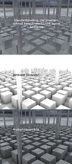Ambient occlusion Computer graphics shading and rendering technique