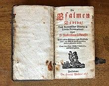 Lobwassers Nachdichtung der Psalmen Davids, 1698 (Quelle: Wikimedia)