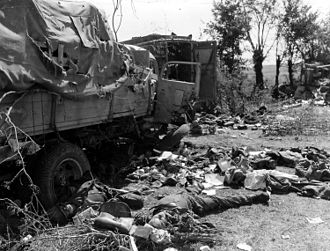 Walter Model - Remains of a German convoy destroyed near Falaise