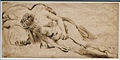 Amsterdam - Rijksmuseum - Late Rembrandt Exposition 2015 - A NUDE WOMAN LYING ON A PILLOW c. 1658 A.jpg