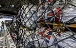 An RAF C-17 aircraft is bound for Nepal on 27 April 2015 loaded with humanitarian aid supplies for victims of the Nepal earthquake. (17105993269).jpg