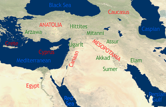 Ancient Near East - Overview map of the ancient Near East