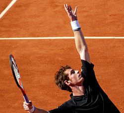 Andy Murray at the 2009 French Open 1.jpg
