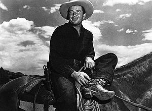 Bruce Cabot - Cabot in a scene from the 1947 western Angel and the Badman
