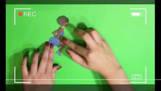 Cutout animation animation using two-dimensional figures cut from paper and other materials