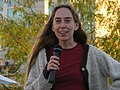 Anita Nickerson addresses the crowd in Waterloo Square (14018275088).jpg