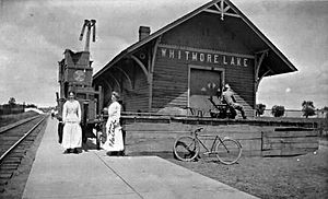 Whitmore Lake, Michigan - Ann Arbor Railroad Depot at Whitmore Lake