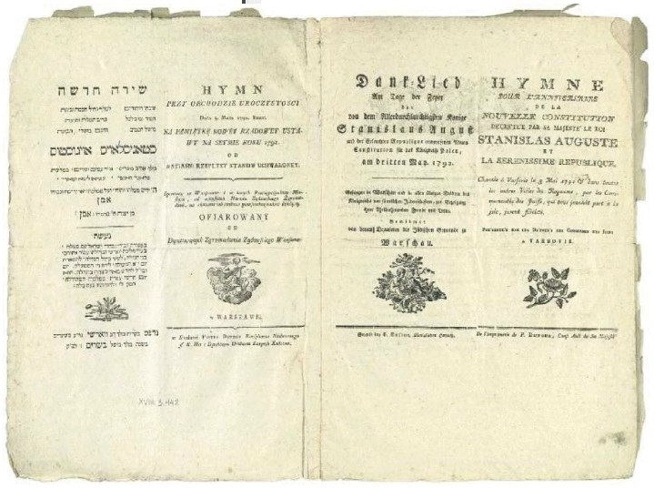 Anniversary anthem of Constitution of May 3 1791