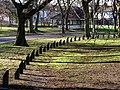 Anti Parking Stumps in West Park - geograph.org.uk - 670408.jpg