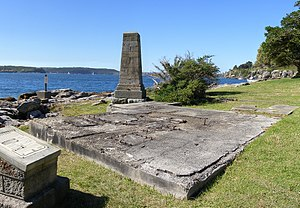 Watsons Bay, New South Wales - Foundations of the anti-sub boom net winch house