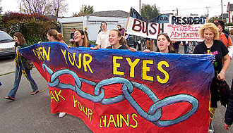 Arcata, California - Protest against the George W. Bush administration