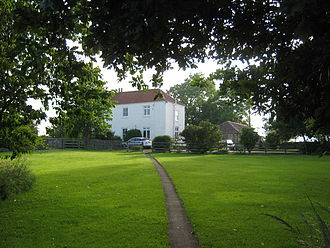 Archdeacon Newton - Hall Farm with Old Hall to its right