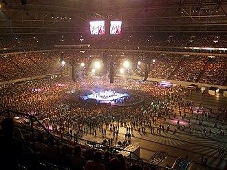 Arena AufSchalke - Veltins-Arena during a Pur concert.