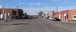 Downtown Arnold: looking west along Arnold Avenue (Nebraska Highway 92)