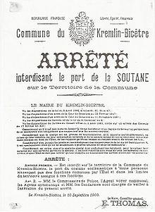 Affaires du voile islamique en france wikip dia - La loi sur le port du voile en france ...