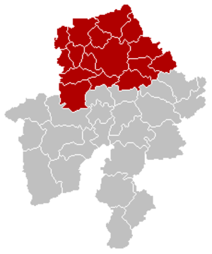 Arrondissement of Namur - Image: Arrondissement Namur Belgium Map