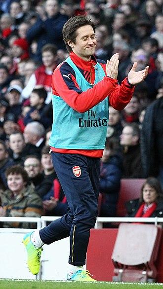 Tomáš Rosický - Rosický with Arsenal in 2015