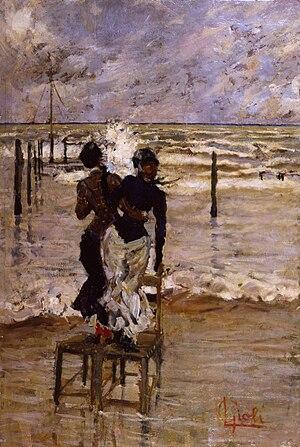 Luigi Gioli - Signore in riva al mare, 1900 ca. (Art collections of Fondazione Cariplo)