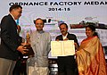 Arun Jaitley awarding the Ordinance Factory, Medak for 'Best Performing Factory of OFB' (2014-15), at the Raksha Mantri's Awards function for Excellence for the years 2014-15 and 2015-16, in New Delhi.jpg