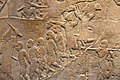 Ashurbanipal II's army attacking Memphis, Egypt, 645-635 BCE, from Nineveh, Iraq. British Museum in London.jpg