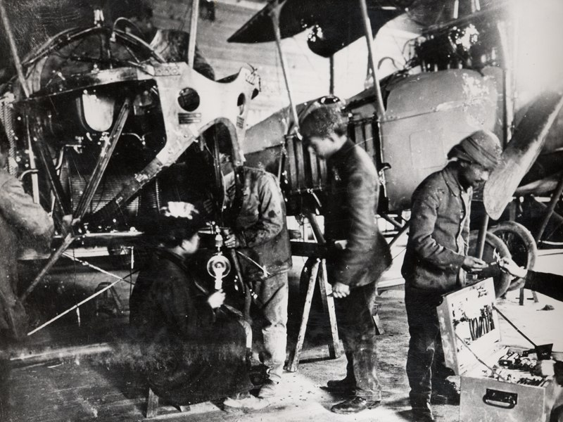 Assembly of Ottoman airplane
