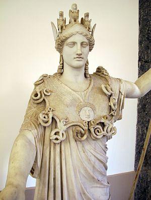 Diosa griega Atenea, copia romana de un original griego