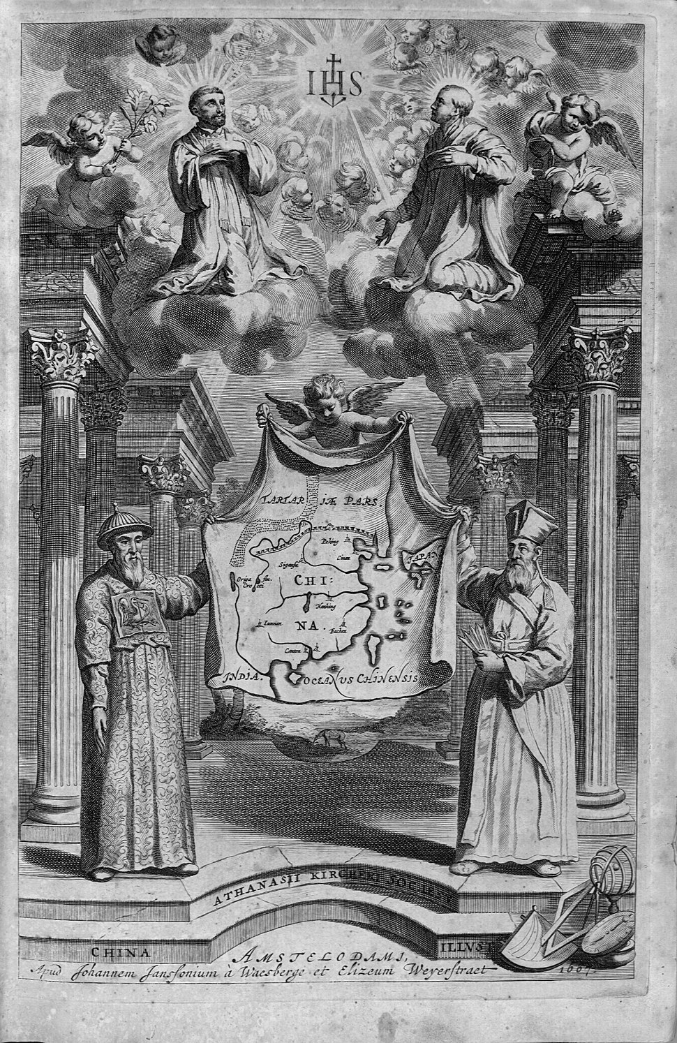 "Athanasii Kircheri... China monumentis (1667) ""Frontispicio"" (22629197626)"