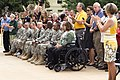Attendees applaud during a celebration in honor of the U.S. Army's 237th birthday June 14, 2012, in the Pentagon courtyard 120614-A-TT930-002.jpg
