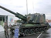 the AMX 30 AuF1, the Self-propelled gun in service in the French Army, one possible tool for the shoot-and-scoot tactics