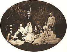 August Kotzsch – Gruppenbild um 1870; rechts stehend Heinrich Dorn (Quelle: Wikimedia)