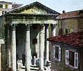 Augustus templom. Fortepan 95044.jpg