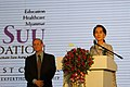 Aung San Suu Kyi at the Suu Foundation Launch (13037728444).jpg