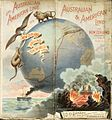 Australian and American Line -Australian and American Line via New Zealand around the world. (Brochure cover. 1890s). (21234348478).jpg